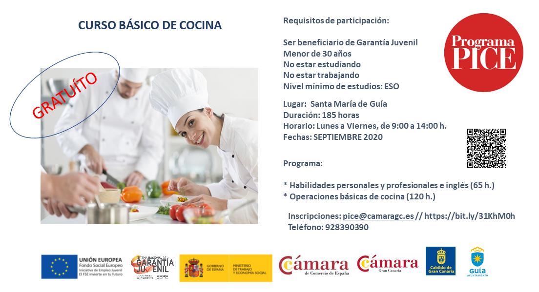 Curso Básico de Cocina. Programa PICE - Garantía Juvenil