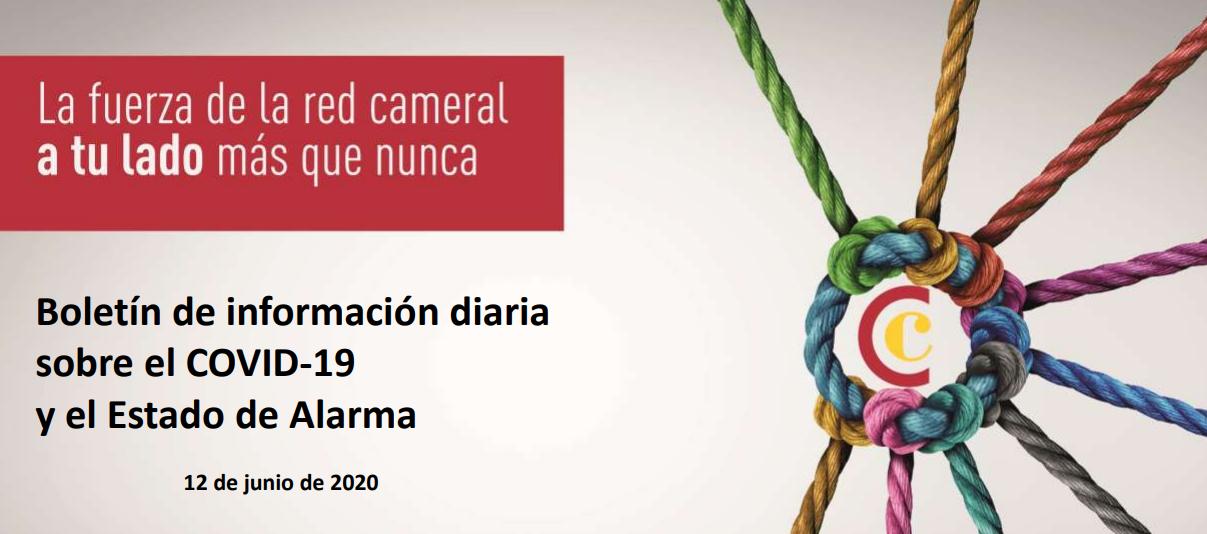 Boletín de Información diaria sobre el COVID-19 y del Estado de Alarma del 12/05/2020