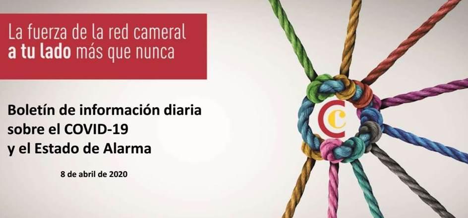 Boletín de Información diaria sobre el COVID-19 y el Estado de Alarma 8/04/2020