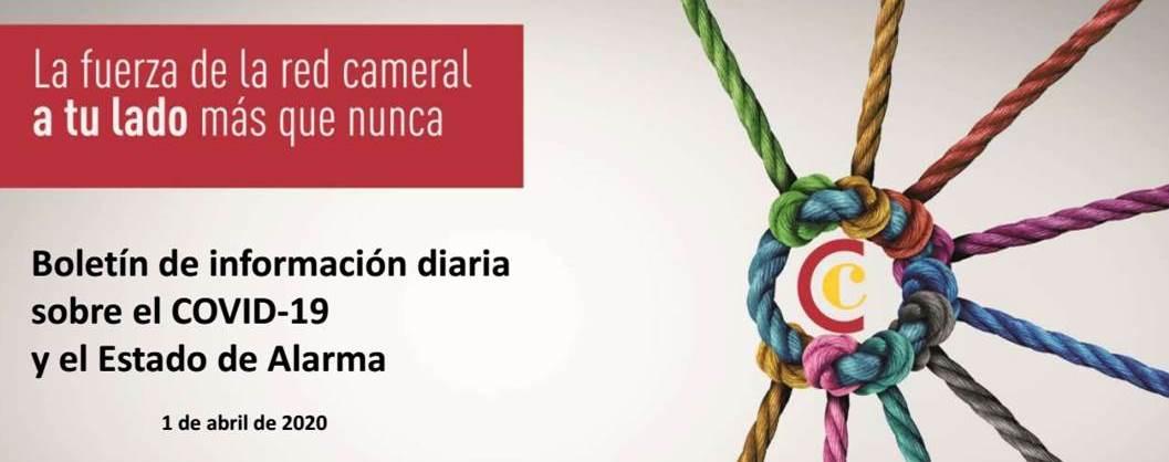 Boletín de Información diaria sobre el COVID-19 y el Estado de Alarma 1/04/2020
