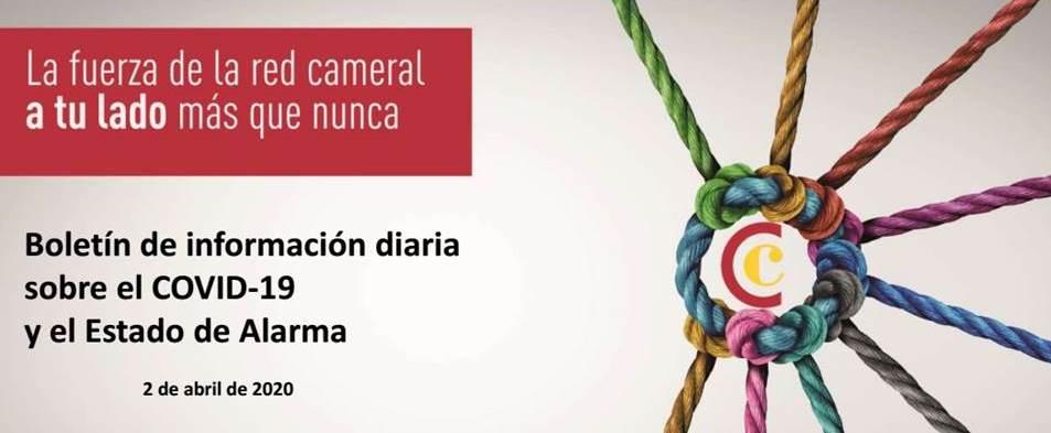 Boletín de Información diaria sobre el COVID-19 y el Estado de Alarma 2/04/2020