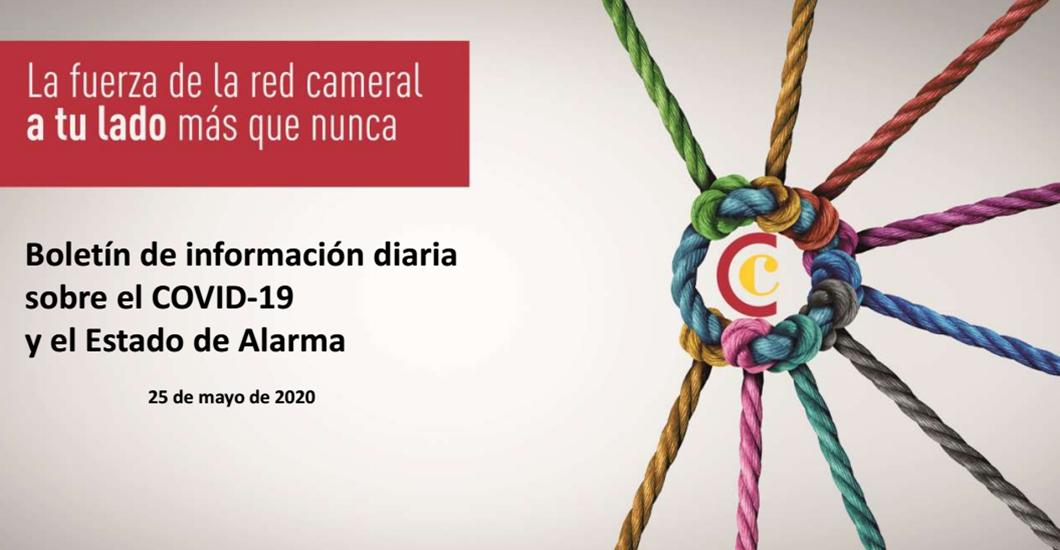 Boletín de Información diaria sobre el COVID-19 y del Estado de Alarma del 25/05/2020