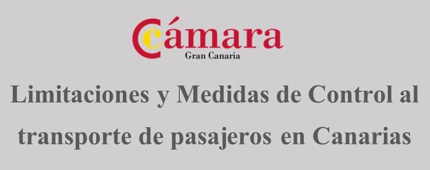 Limitaciones y Medidas de Control al transporte de pasajeros en Canarias
