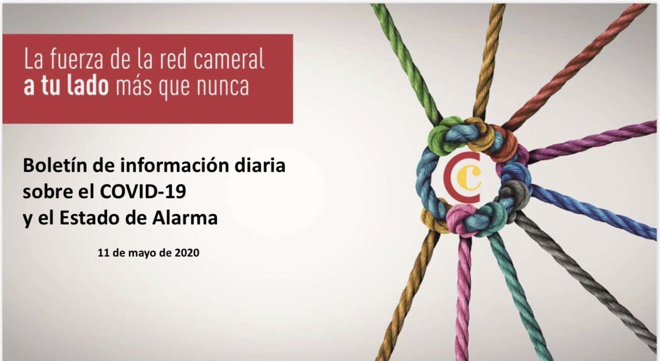 Boletín de Información diaria sobre el COVID-19 y el Estado de Alarma 11/05/2020