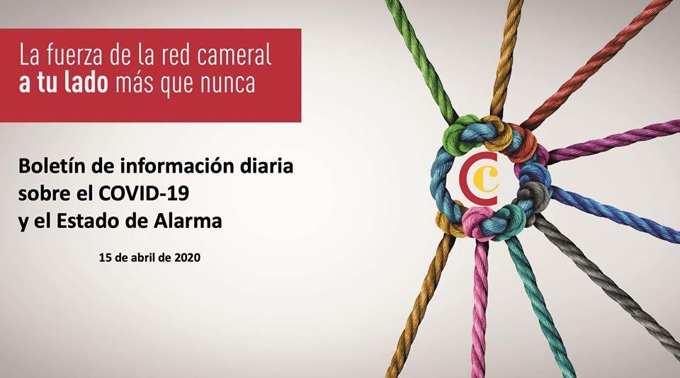 Boletín de Información diaria sobre el COVID-19 y el Estado de Alarma 15/04/2020