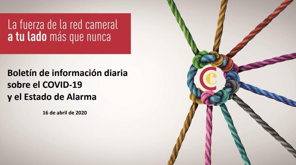 Boletín de Información diaria sobre el COVID-19 y el Estado de Alarma 16/04/2020
