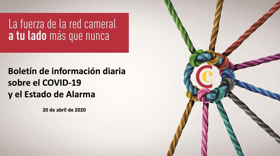 Boletín de Información diaria sobre el COVID-19 y el Estado de Alarma 20/04/2020