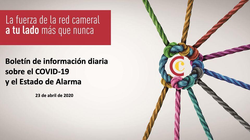 Boletín de Información diaria sobre el COVID-19 y el Estado de Alarma 23/04/2020