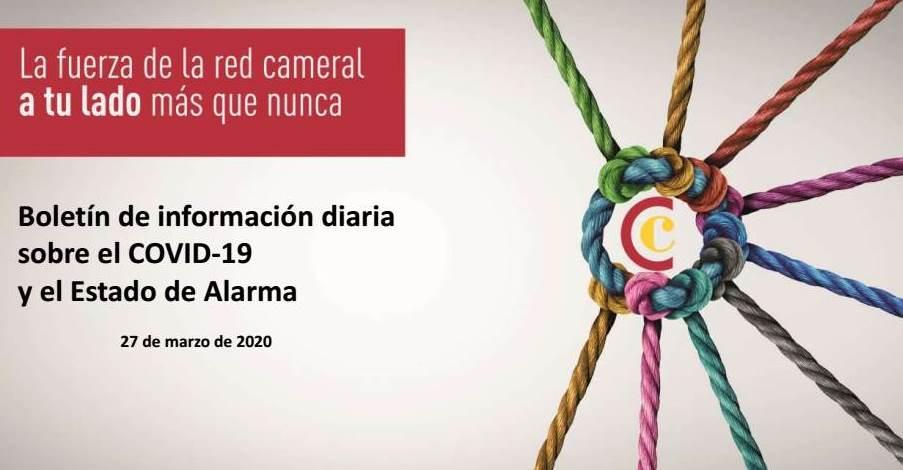 Boletín de Información diaria sobre el COVID-19 y el Estado de Alarma 27/03/2020