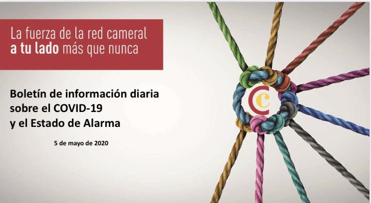 Boletín de Información diaria sobre el COVID-19 y del Estado de Alarma del 5/05/2020