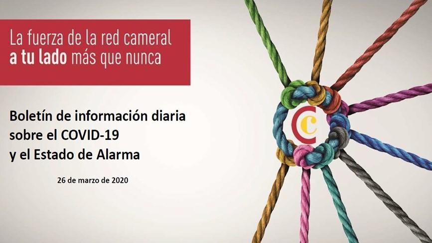 Boletín de Información diaria sobre el COVID-19 y el Estado de Alarma 26/03/2020