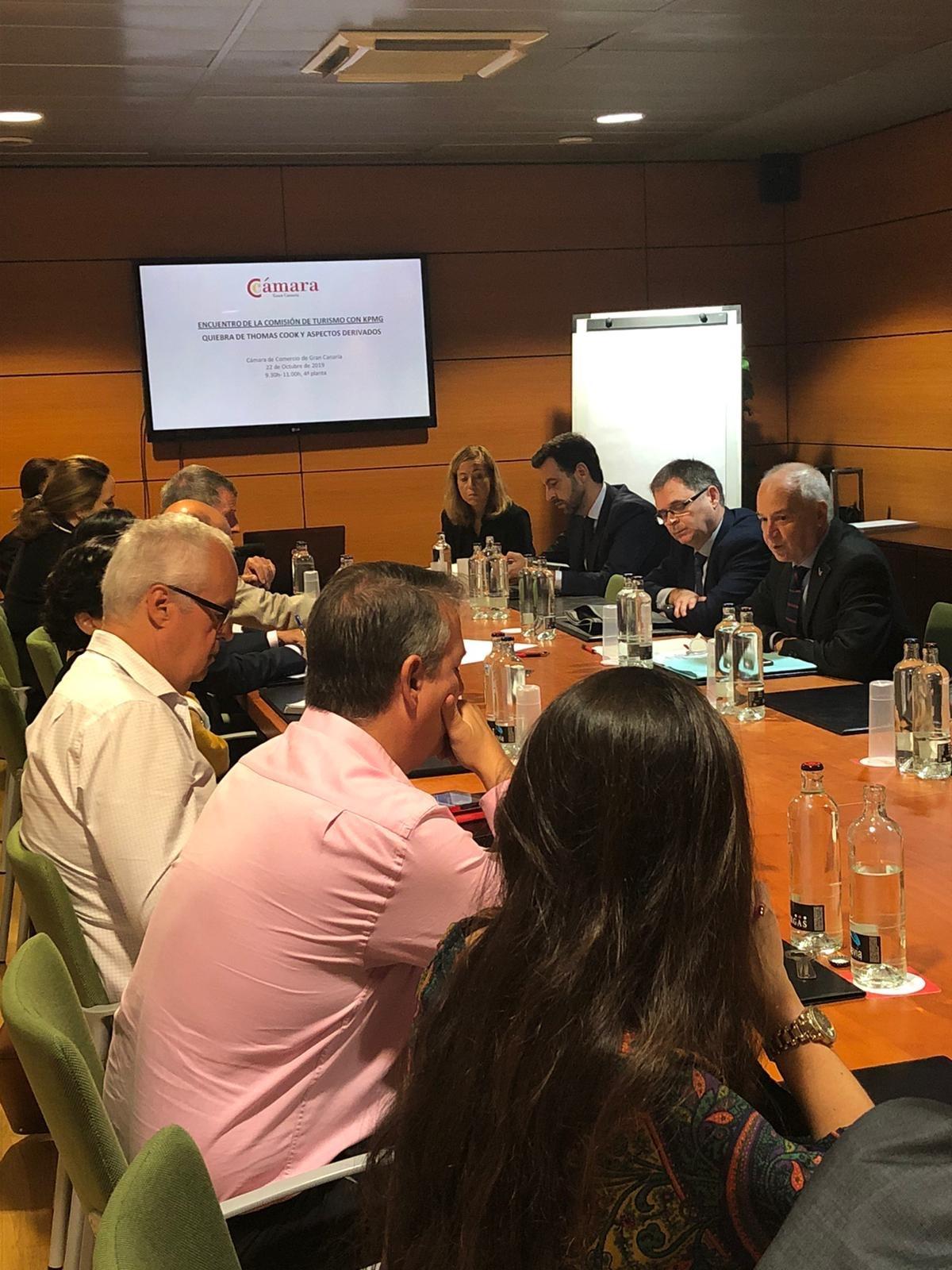 Reunión Comisión Turismo Cámara de Comercio de GRan Canaria