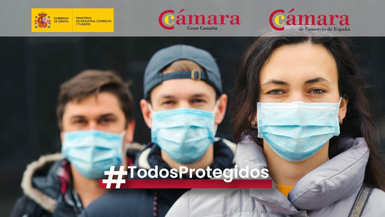 Las Cámaras Canarias colaboran en la puesta en marcha de un portal informativo de oferta y demanda de equipos de protección personal del Ministerio de Industria y la Cámara de España.